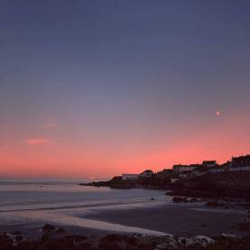 Coverack Harbour at sunset