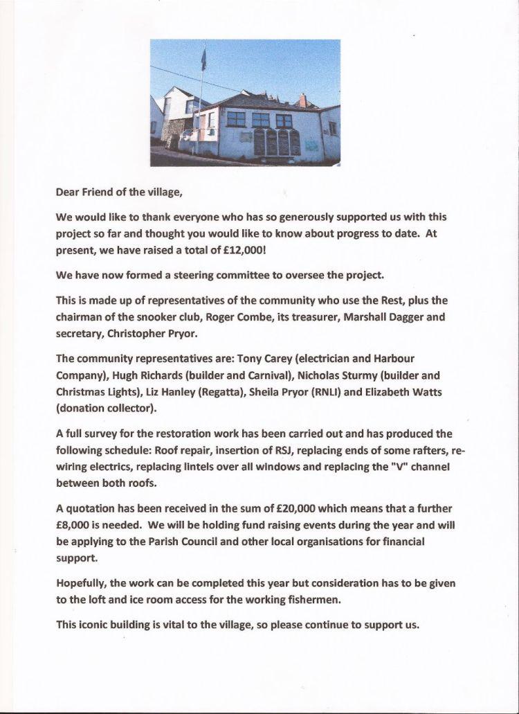 Fishermans's rest letter