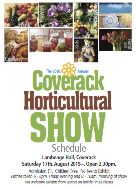 Horticultural show schedule