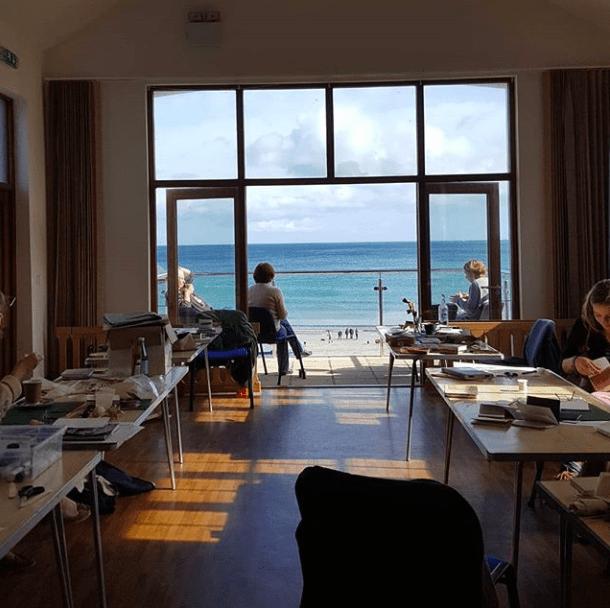 Sue Lewington Art Course Lunch